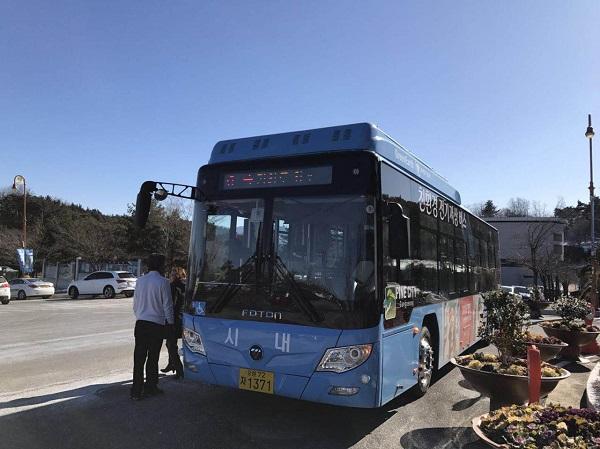 中国新能源客车首次进入韩国市场 福田欧辉助阵2018平昌冬奥诠释绿色